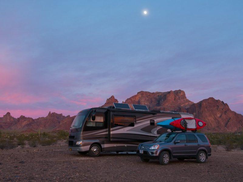 RV in BLM Campsite