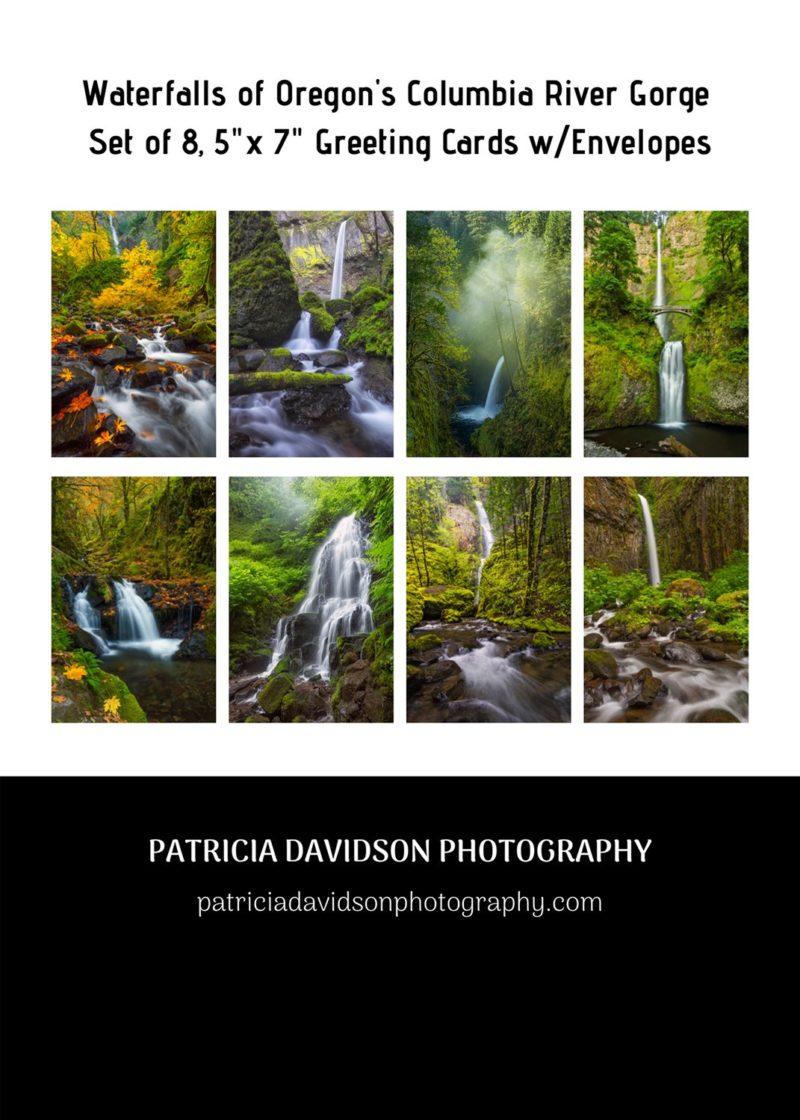 Oregon Waterfalls greeting cards