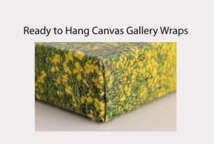 sample canvas wrap