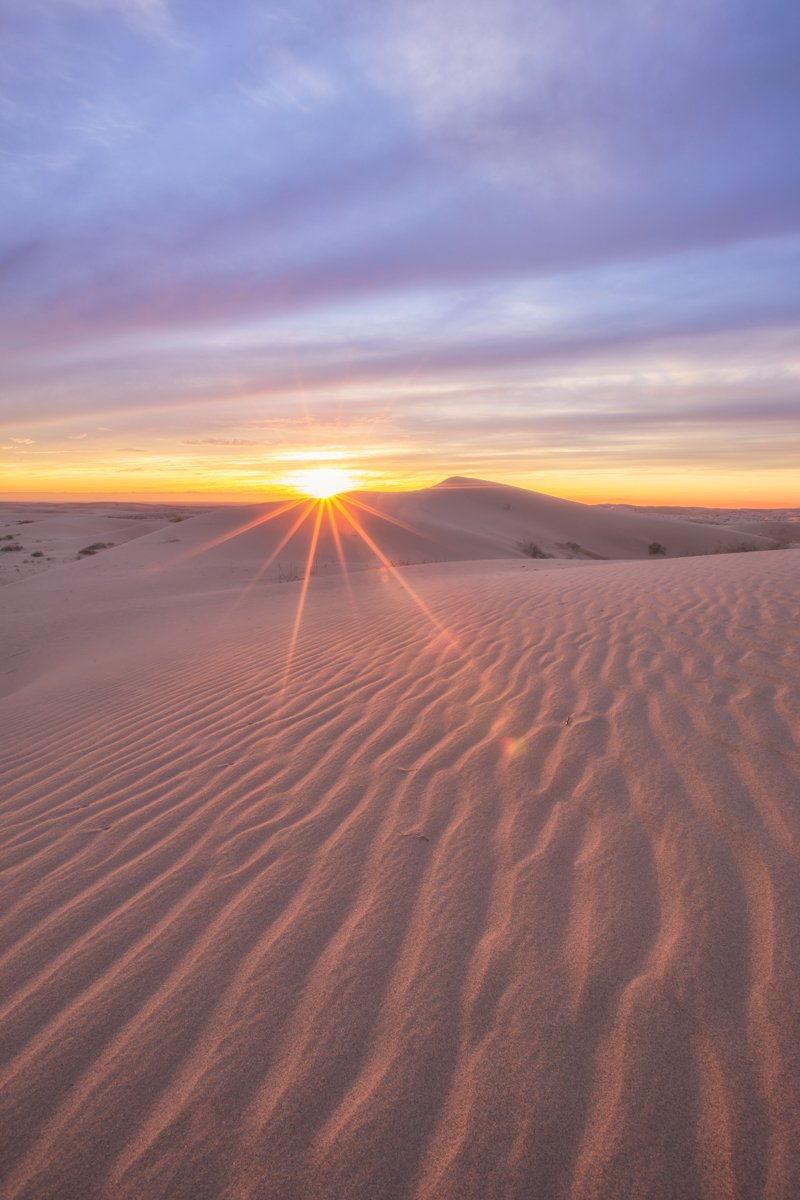 sand dune at sunset