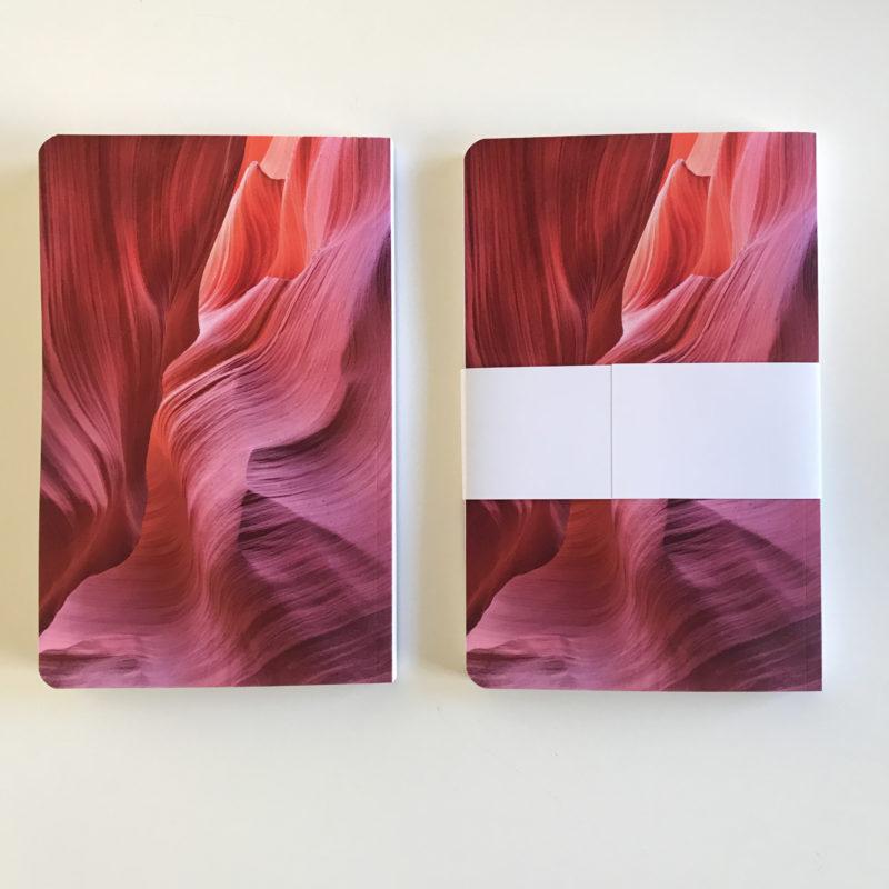 journals side by side back