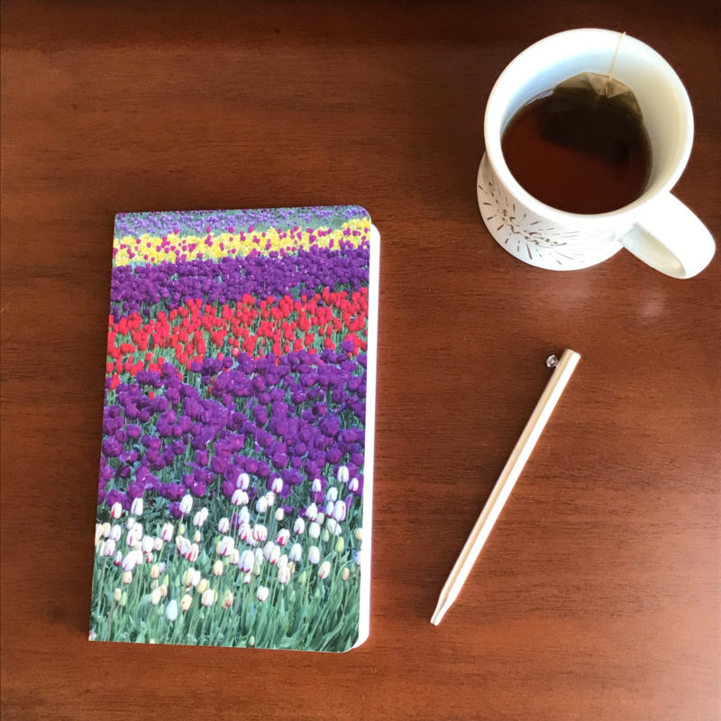 journal on wooden table