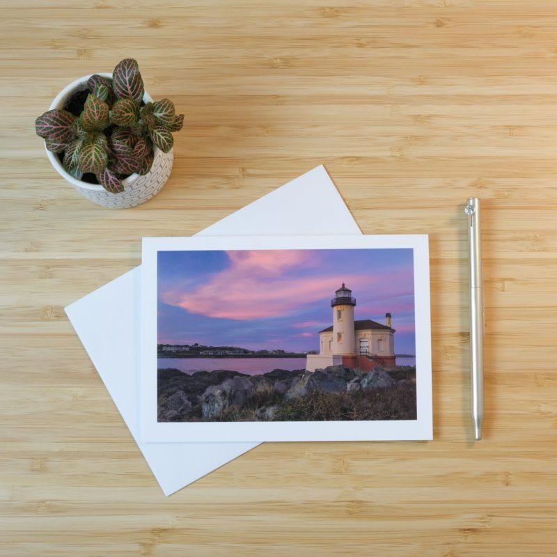 Bandon Lighthouse print on card